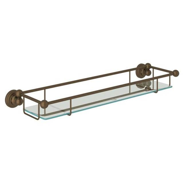 Rohl U.6453PN Wall Mounted Tempered Glass Vanity Shelf